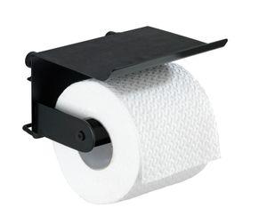 Toilettenpapierhalter ohne bohren-schwarz mit Ablage