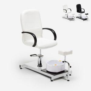 Fußpflegestuhl und Fußmassage Idro PulpFarbe: Weiß