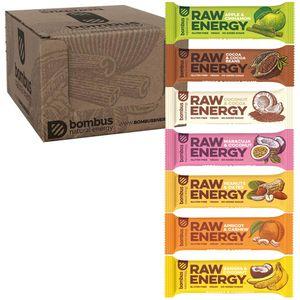 Bombus Probierpaket 7 Energieriegel - Glutenfrei Vegan Ohne Zuckerzusatz