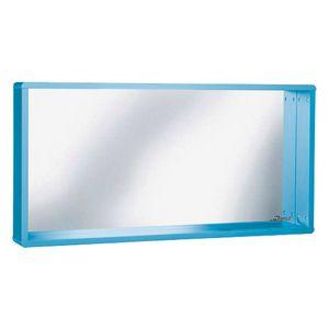 Phoenix Spiegel mit Rahmen und Ablage, Autometallic-Lackierung Miami Blau Metallic 110 x 55 x 13 cm