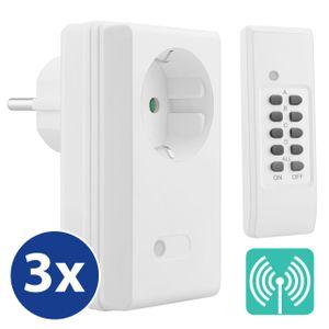 mumbi 4-Kanal 3600 Watt Funksteckdosen Set FS306: 3x Funksteckdose und 1x Fernbedienung - Plug & Play Funkschalt Set