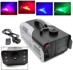 1200W Nebelmaschine Rauchmaschine  6*3W RGB led 3 in1 Fogger Smoke Machine mit Kabellos Fernbedienung