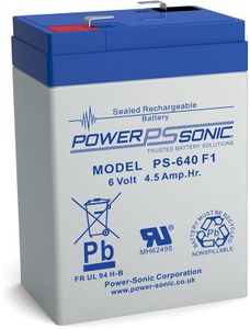 Powersonic PS 640 6V 4,5Ah Blei-Vlies Akku AGM VRLA