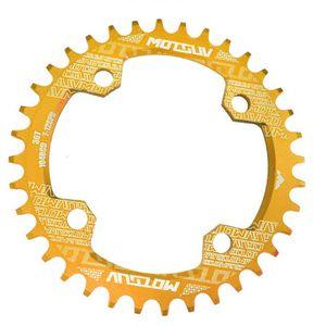 104BCD Round Narrow Wide 30-38T Kettenblatt MTB Fahrrad Kettenrad Gold 36T 104 BCD