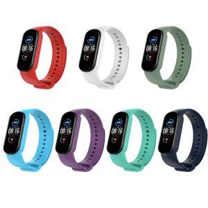 PINHEN Ersatzbänder, Silikon Armband Armband verstellbar Sport Fitness Strap kompatibel für Xiaomi Mi Band 5(Cset-7pcs)