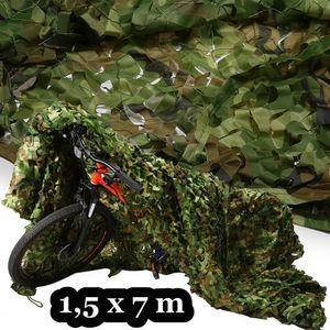 1,5 x 7 m Camouflage Tarnnetz flecktarn Bundeswehr Armee Netz Tarnung Hunter Dekonetz