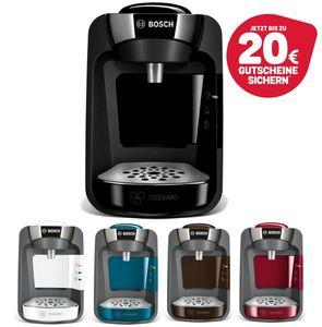 Bosch TASSIMO SUNY 20 EUR Gutscheine* Heißgetränkemaschine Kaffeemaschine, Farbe:Schwarz