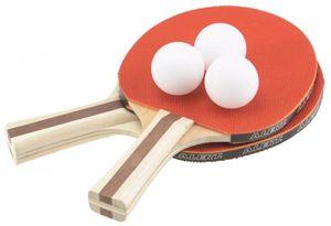 Alert Sport Tischtennis Schläger Set - 2 Schläger - 3 Bälle