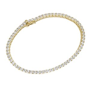 Armband Luigi Merano Tennisarmband mit Zirkonia, Gold 375 Gold 19 cm