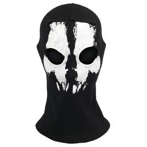 CoD Sturmmaske Totenschädel mit 2 Öffnungen für die Augen Schwarz