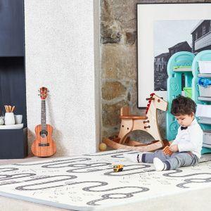 Baby Vivo Spielmatte / Spielteppich für Kinder doppelseitig mit Straße 180 x 150 cm - Kaktus