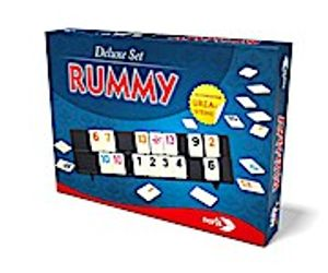 noris 606101779 Rummy, Deluxe Set, Familienspiel