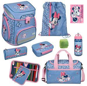 Disney Minnie Maus Mädchen Schulranzen Set 9tlg. Scooli Easy Fit Ranzen 1. Klasse mit Sporttasche