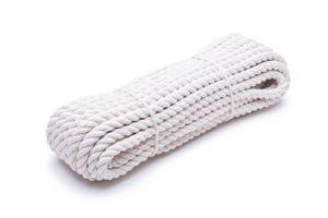 12mm | 20m Baumwollseil | 100 % Baumwolle Tauwerk | gedrehte Baumwollkordel