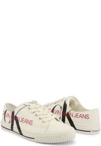 Calvin Klein Damen Schnürschuhe Damenschuhe Sneaker , mit Schnürung, Größe:EU 36, Farbe:Weiß-elfenbeinfarben