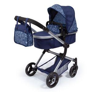 Kombi-Puppenwagen Vario blau