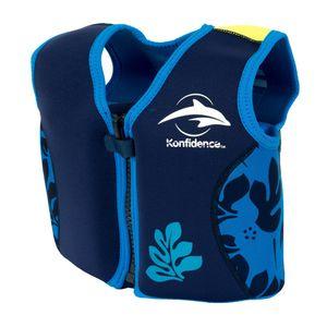 Konfidence Jacket Schwimmweste navy/blue palm 6 - 7 Jahre