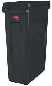 Rubbermaid Abfallbehälter Slim Jim mit Lüftungskanälen schwarz 87 Liter