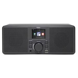 XORO HMT 420 Internetradio mit WLAN , USB Musikplayer + Ladebuchse, Wetterstation , Wecker, 8 Schlafklänge , 6 cm TFT Display + ID 3 Tag