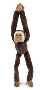 Plüschtier Gibbon, Affe, 54 cm, dunkelbraun, Hängeaffe Affen Hängeaffen Kuscheltiere Stofftiere Magnet
