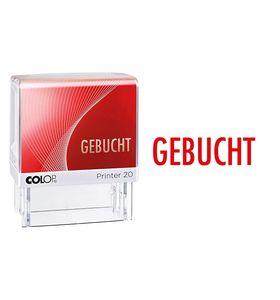 """COLOP Textstempel Printer 20 """"GEBUCHT"""" mit Textplatte"""