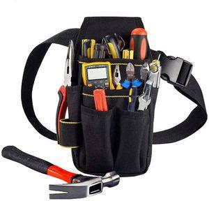 1 Stück Schwarz Professionelle Wasserdicht Werkzeugtasche Gürteltasche Werkzeugbeutel mit Gürtel für Elektriker Tischler Bauarbeiter