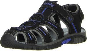 ConWay Damen Herren Trekkingsandalen schwarz, Größe:45, Farbe:Schwarz