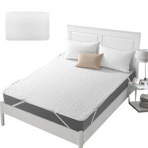 137x190cm Weiß Baumwolle Wasserdichte Bett Protector,Pad Feste Luft-Durchlässigen Matratze Abdeckung