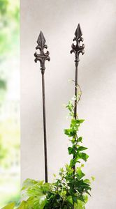 """2er Gartenstecker """"Lilie"""" Blumenstecker Metallstecker Gartendeko Garten"""