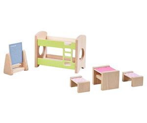 Haba Little Friends Puppenhaus-Möbel Kinderzimmer für Geschwister
