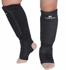2 Paar Taekwondo Karate MMA Schienbein Rist  Bein Fußschutz Tuch Pad M