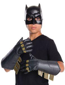 Batman-Handschuhe für Kinder Batman vs. Superman Accessoire schwarz-gold