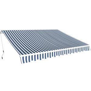 vidaXL Gelenkarmmarkise Handbetrieben 350 m Blau und Weiß