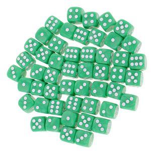 50 Stück D6 Würfel Farbe Grün