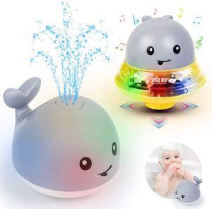 Badewannen Spielzeug Wasserspielzeug,Badespielzeug Schwimmende Baden Spielzeug mit Licht Musik,Badewannenspielzeug Baby Spielzeug ab 1 2 3 4 5 Jahre Kinder Jungen Mädchen