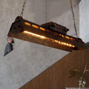 Retro Lampe Industrieller Deckenplatte Loft-Stil Pendellampe Hängeleuchte Eisen-Stil Kronleuchter für Studie/ Wohnzimmer/ Schlafzimmer/ Bars/ Cafés/ Alte Buchhandlungen