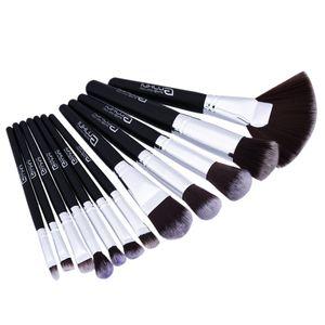 12 Stück Make-up Pinsel Professionell Schminkpinsel Set Damen Frauen Kosmetik Verfassungsbürsten