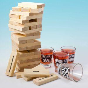 Kultspiel Jenga als Party Trink Spiel - Tipsy Tower Trinkspiel Saufspiel Variante