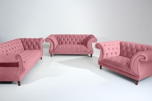 Max Winzer Ivette Sessel - Farbe: rosé - Maße: 167 cm x 100 cm x 80 cm; 2994-1100-2044206-F07