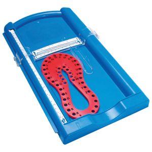 EDUPLAY 120420 Fuss-/ Handmesser, Kunststoff, 41 x 24 x 4 cm, blau (1 Stück)