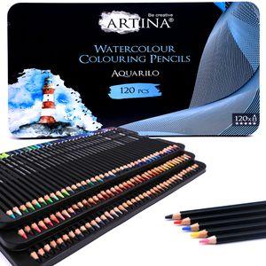 Artina Aquarell Buntstifte Set Aquarilo , Setgröße:120