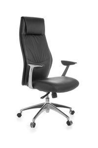 Bürostuhl OXFORD 1 Echtleder Schwarz Schreibtischstuhl X-XL