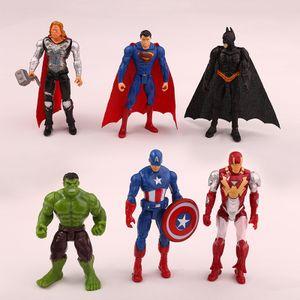 6 Marvel Avengers Unendlicher Krieg Iron Man Superheld Amerikanischer Kapitän Thor Action Figur Puppen Kindergeschenk