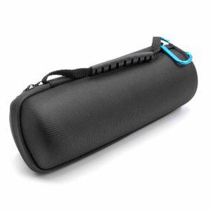 vhbw Tasche Hülle Case kompatibel mit JBL Flip 1, 2, 3, 4 Bluetooth Lautsprecher Box - schwarz, mit Tragegurt