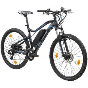 F.lli Schiano E-Braver 650B E-Bike E Mountainbike 27,5 Zoll Hardtail Pedelec Elektrofahrrad, Farbe:schwarz/blau, Rahmengröße:48 cm