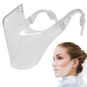 Transparentes Gesichtsschutz, Waschbare Klare Gesichtsschutzmasken, Gesichtsvisier Klarer mund und nasenschutz Gesichtsschutzschild für Erwachsene