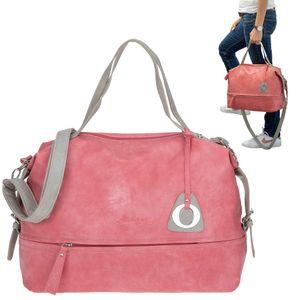 Handtasche für Damen groß Umhängetasche A4 Alessandro Bari Kunstledertasche Tasche Büro Arbeit 5402 Alt Rosa +e