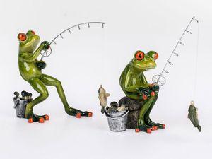 Formano Frösche 'Angler', 2-teiliges Set, 15 cm, mehrfarbig