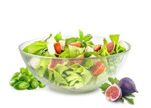 Große Salatschale 2L Salatschüssel Servierschale Schüssel Schale Glasschale