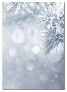Motivpapier Briefpapier (Winter-5180, DIN A4, 100 Blatt) Weihnachten verschneiten Tannenäste